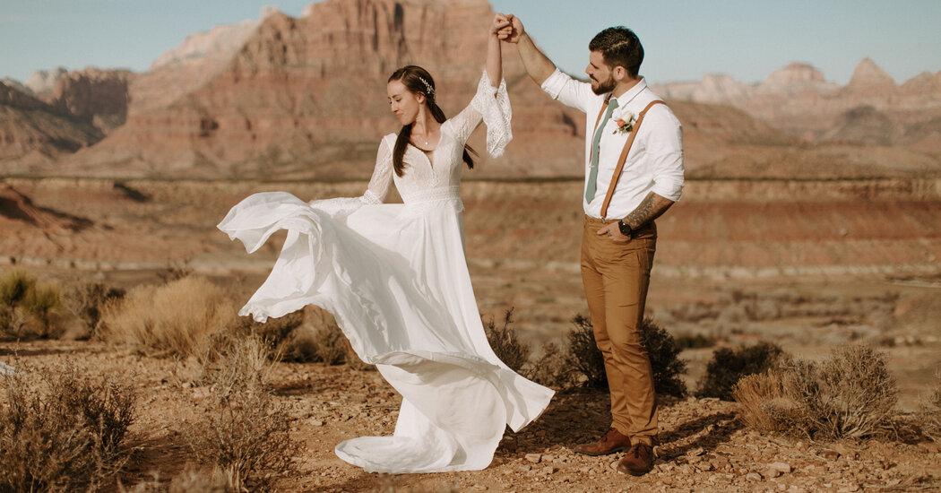 Weddings: Believe It. They Met in Person.